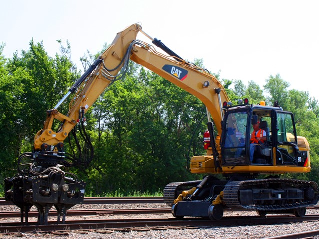 CAT 312 Hi-Rail Excavator